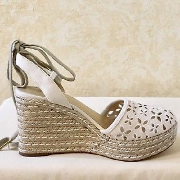 c184ac7e00c Michael Kors Darci closed toe wedge in natural NWT